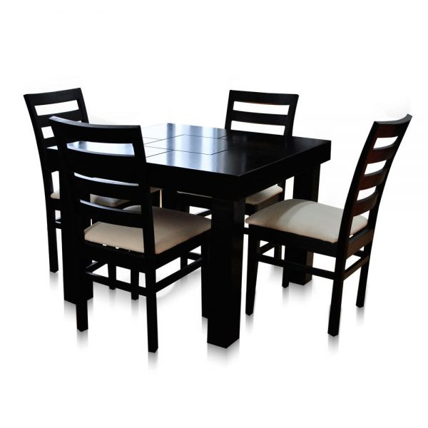 Comedor con 4 sillas italia for Comedores en oferta en monterrey