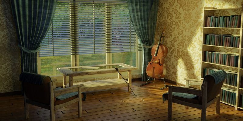 interior de la casa con muebles