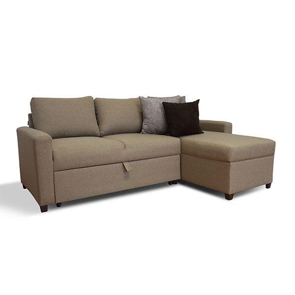 Sala esquinera con sof cama nuova for Salas con sofa cama