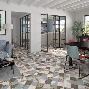 sala con azulejos