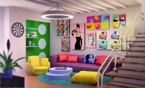sala estilo Pop Art