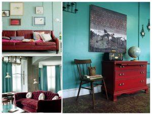 salas en colores opuestos
