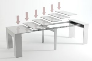 mesa extensible en partes