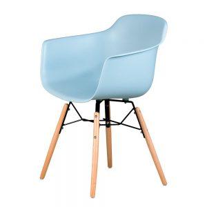 silla con patas hacia fuera Mobydec corintio