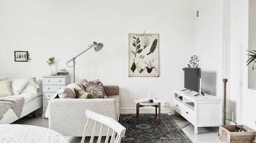 decoración monoambiente
