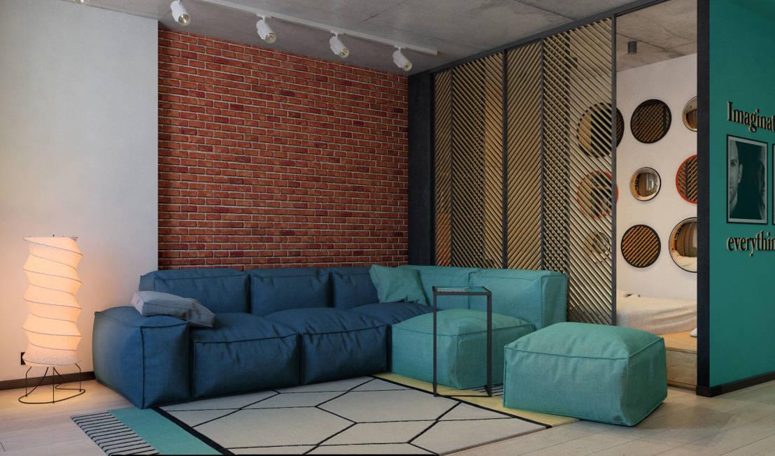 sala lounge formas libres