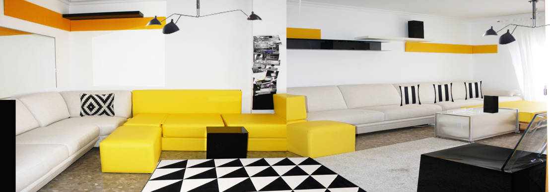 sala lounge con muros