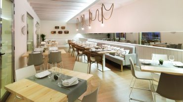 distribución de mesas en restaurante