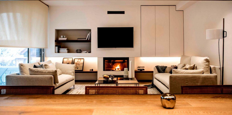 muebles en sala moderna