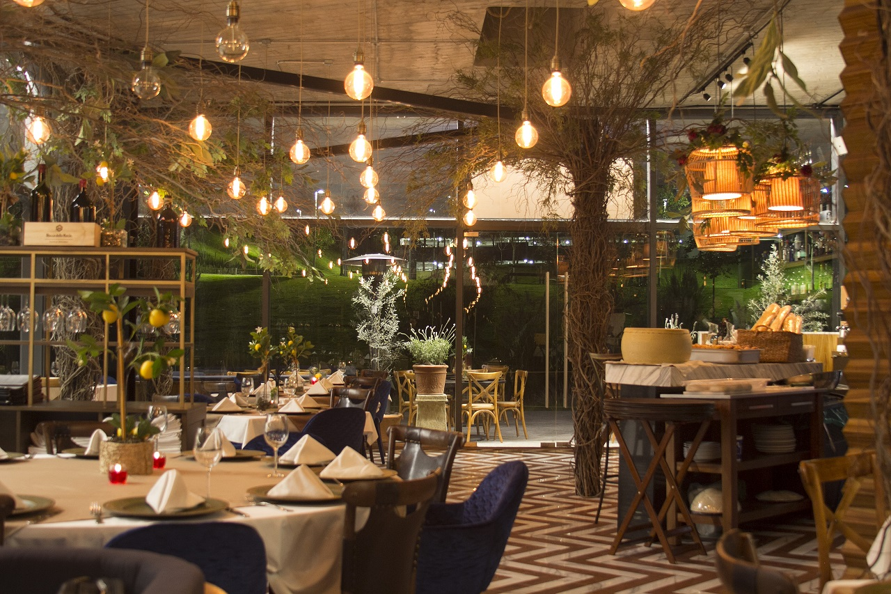 decoración restaurante naturaleza