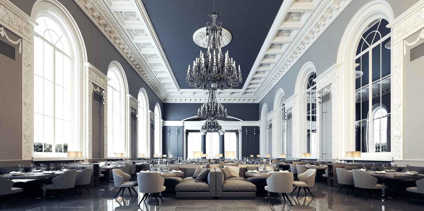 decoración restaurante moderno