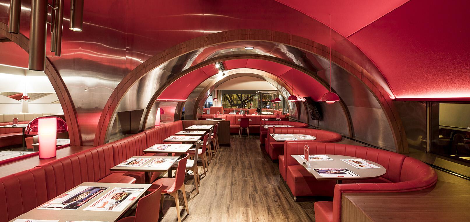restaurante color rojo