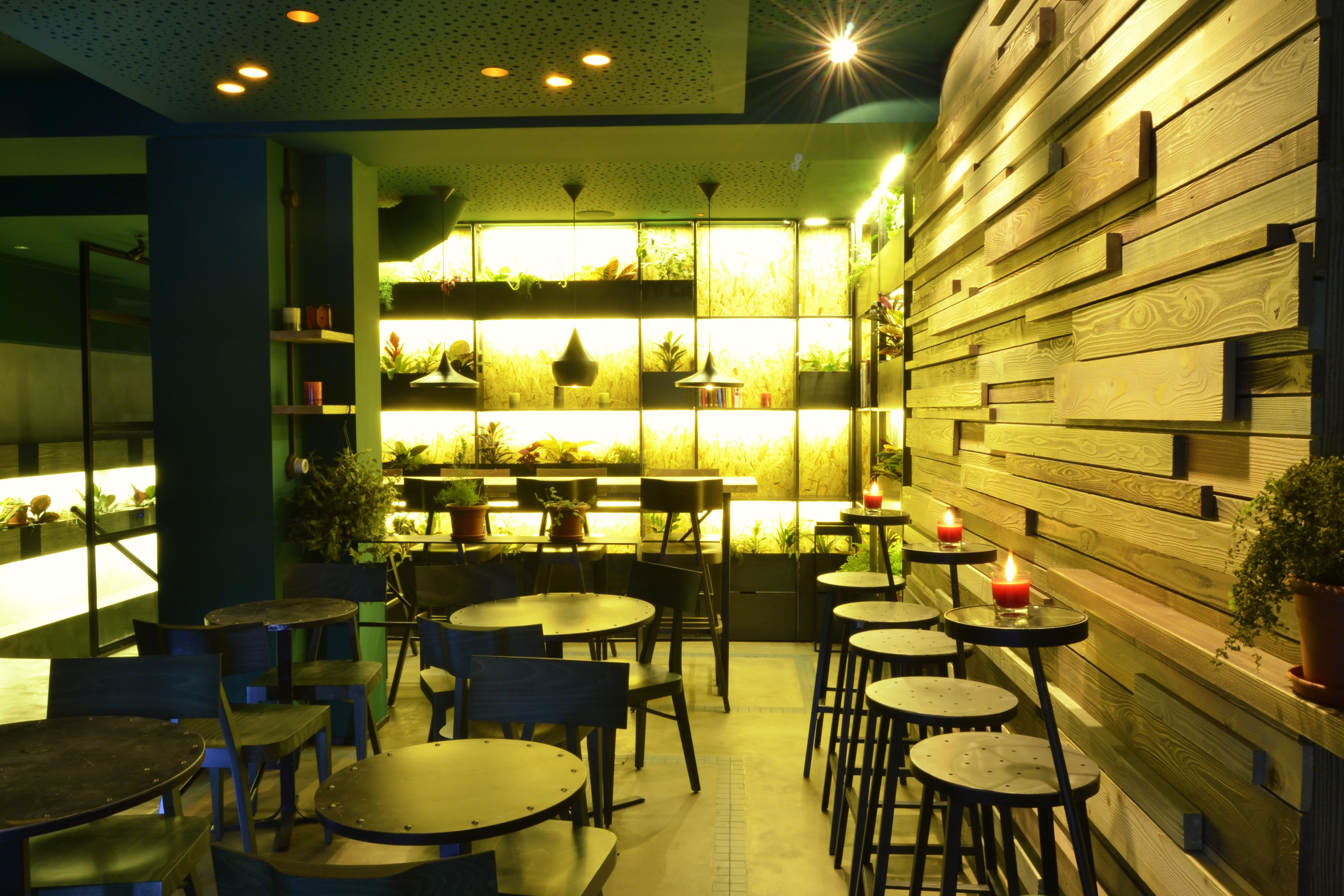 restaurante color verde
