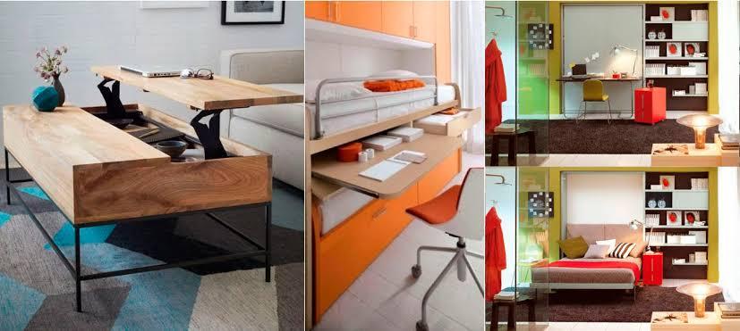 decoración con muebles multifuncionales