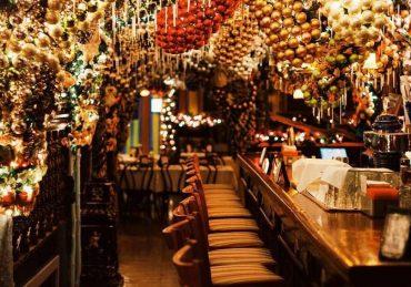 decoración Navidad restaurante