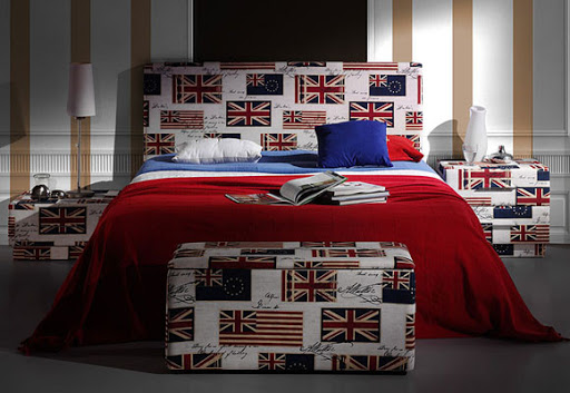 muebles colores estilo british