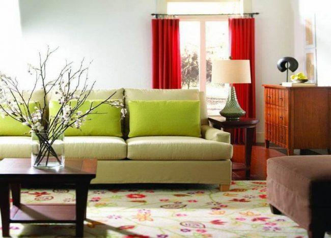 muebles colores estilo pares complementarios