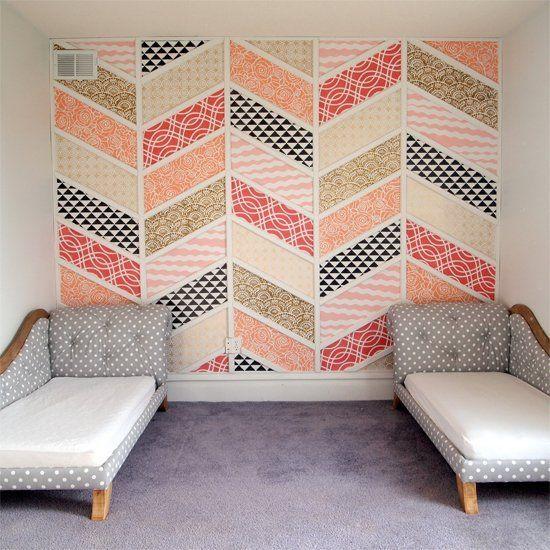 decoración paredes con telas