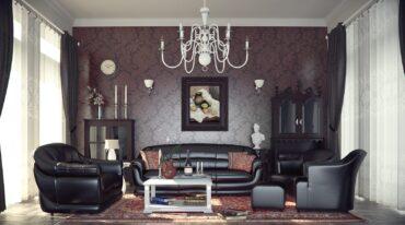 combinación muebles clásicos y modernos